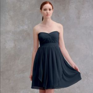 Jenny Yoo Keira Navy Strapless Dress Sz 8
